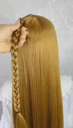 Easy Hairstyles For Long Hair, Braids For Long Hair, Pretty Hairstyles, Girl Hairstyles, Braided Hairstyles, Wedding Hairstyles, Hair Tips Video, Hair Videos, Hair Style Vedio