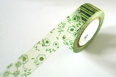MT EX Flowers Washi Tape - GREEN