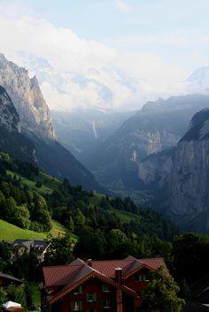 Lauterbrunnen from Wengen, Switzerland
