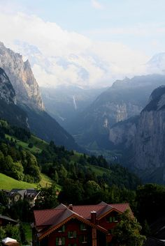 Lauterbrunnen from Wengen, Switzerland