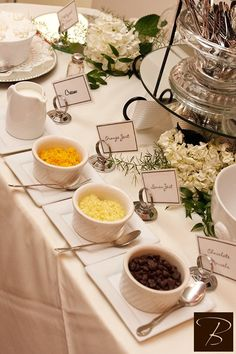 Full coffee and tea bar comes with our wedding packages.