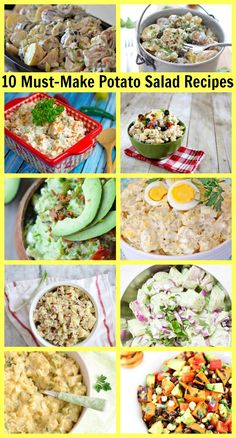 10 Must-Make Potato Salad #Recipes #summer #barbecue #picnic #potatosalad
