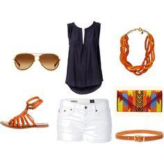 Loving navy, white, and orange for this summer! So fresh <3