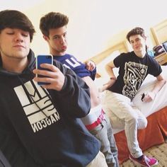 Jake Foushee, Cameron Dallas, and Nash Grier.