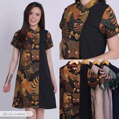 52 Ideas For Diy Ropa Vestidos Robes Model Dress Batik, Batik Dress, Dresses For Teens, Trendy Dresses, Nice Dresses, Dress Batik Kombinasi, Trend Fashion, Fashion Design, Plus Sise