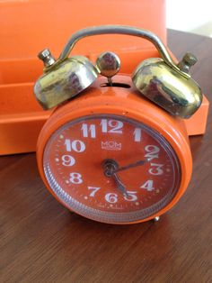 Vintage Retro Small Hungarian made alarm clock.WORKING clock Mechanical clock by trevoranna on Etsy