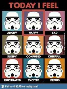 Today I feel... stormtrooper facial expressions...