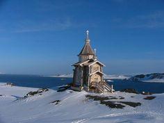 Trinity Church. Tiny Russian Orthodox Church in Antartica