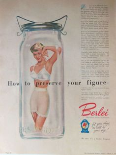 BERLEI BRA NYLON FASHION AD 1954 original retro vintage AUSTRALIAN advertising