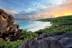 "The Seychelles. ""Once you've been to the Seychelles, nothing seems to measure up,"" our reporters say. Stay at the Anse Soleil Beachcomber for less than 100 dollars a night. Vacation Places, Dream Vacations, Vacation Spots, Places To Travel, Oh The Places You'll Go, Places To Visit, Beautiful World, Beautiful Places, Outside Magazine"
