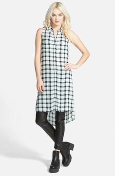 Leith Sleeveless Plaid Tunic available at #Nordstrom