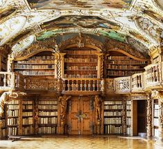 Hi Elizabeth! I wanted to send this to you but idk how to do it on my laptop since it changed so.this is how imma do it.and I thought this might be good in your future house lol Waldsassen Abbey Library in Bavaria, Germany Beautiful Library, Dream Library, Library Books, Grand Library, Library Ideas, Home Libraries, Book Nooks, Beautiful Architecture, Architecture Old