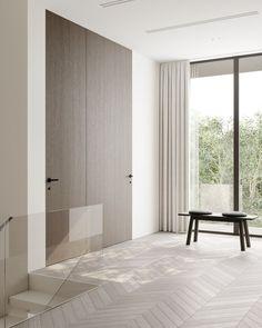 Hallway #hallway #modernhallway #minimalistichallway #minimalism #minimalisticarchitecture #minimalisticinterior #architecture #modernarchitecture #design #moderndesign #ideasforhallway Modern Hallway, Minimalist Interior, Modern Architecture, Minimalism, Modern Design, Curtains, Room, House, Furniture