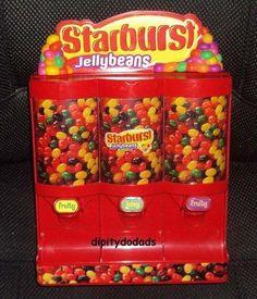 Jelly Bean Dispenser Starburst Candy Wrigley Jr Fruity Juicy Nuts Drops Chips NE | eBay