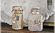 Upcycling empty wine bottles into etched water carafes