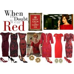 What Would Joan Holloway Wear?, created by mpsakatrixie on Polyvore