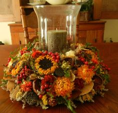 Fall Wreath Thanksgiving Centerpiece Natural by Summer Centerpieces, Thanksgiving Centerpieces, Thanksgiving Wreaths, Holiday Wreaths, Holiday Crafts, Christmas Decorations, Halloween Wreaths, Holiday Ideas, Holiday Decor