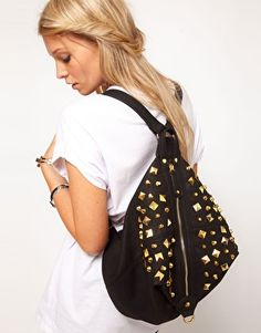 Buy ASOS Studded Backpack at ASOS. Get the latest trends with ASOS now. Studded Backpack, Backpack Purse, Fashion Bags, Fashion Backpack, Asos, Studs And Spikes, College Bags, Best Handbags, Affordable Fashion