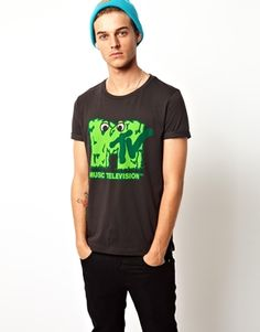 Image 1 of ASOS T-Shirt With MTV Monster Print