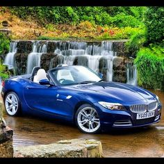 BMW E89 Z4 blue Loved the look of this car so I went and parted one just like it in the garage.