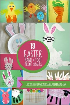 19 Easter Hand & Foot Print Crafts