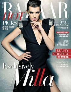 Milla Jovovich on Cover for Harper's Bazaar Hong Kong