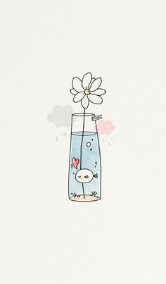 Imagem de cute, fish, and flower drawing apps Image about cute in Phone's Wallpapers 📱 by Amimi ~ 사랑 Cute Easy Drawings, Kawaii Drawings, Doodle Drawings, Drawing Sketches, Cute Drawings Tumblr, Drawing Ideas, Simple Doodles Drawings, Easy Flower Drawings, Drawing Poses