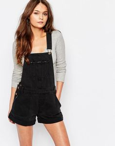 New Look | New Look – Jeansoverall mit Latzhose bei ASOS