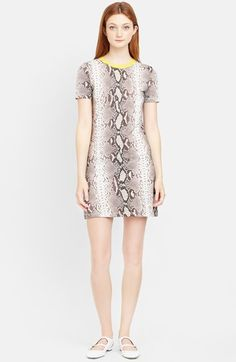 Carven+Snakeskin+Print+Jersey+T-Shirt+Dress+available+at+#Nordstrom