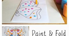 Kids can paint a symmetrical butterfly using fine motor art techniques