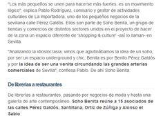 """""""Cuando el somos es mejor que el soy"""". Soho Benita en el diario El Mundo. Estupendo título y muy buen artículo de Pepe Barahona en el Diario El Mundo, en el que varios de los miembros de nuestro Soho de Sevilla comentamos nuestra iniciativa. Puedes leerlo completo en nuestra web: sohobenita.com"""