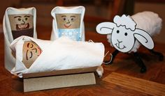 cardboard tube for decorations   My sample nativity scene looked like this: