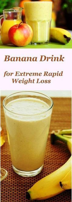 Want to get rid of several pounds of excess tummy that make you big and fat? Start once a day to drink this delicious banana smoothie!