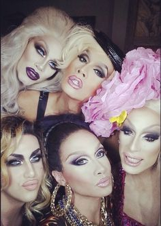 Sharon Needles, Raja Gemini, Alaska Thunderfuck, Phi Phi Ohara, & Adore Delano, for RuPaul's 'Battle of the Seasons'. You Better WURK!