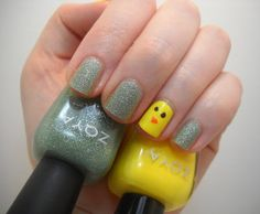 Easter Nail Look - baby chicks in Easter grass featuring Zoya Creamy, Angelina, Pia & Vespa!