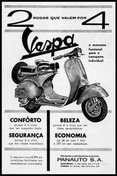 História da Vespa no Brasil | Motoneta Floripa