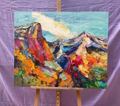 Painting Samples of Mountain Landscape Painting, Extra Large Canvas Pa Original Oil Painting, Canvas Wall Art, Hand Painting Art, Original Abstract Art, Oil Painting Landscape, Painting, Mountain Landscape Painting, Hand Painted Canvas, Abstract Art Landscape