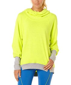Love this C&C California Neon Yellow Fleece Hooded Sweatshirt by C&C California on #zulily! #zulilyfinds