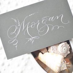 """Morgan is a Welsh name meaning """"Bright sea"""". ✒️ Tag a friend named Morgan! #calligraphynameoftheday"""