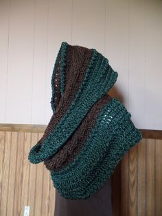 #Crochet Cables and Bobbles Oversized Infinity Scarf Wrap #TUTORIAL