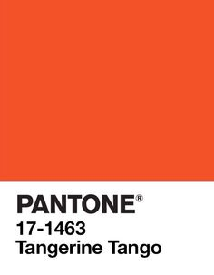 PANTONE Color of the Year 2012: Tangerine Tango