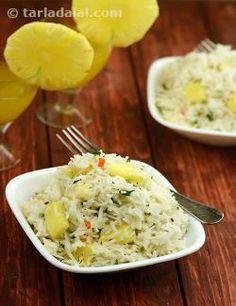 Caribbean Rice recipe | Party Recipes, Entertaining Recipes | by Tarla Dalal | Tarladalal.com | #901