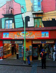 Calle colorida - Buenos Aires, ARgentina