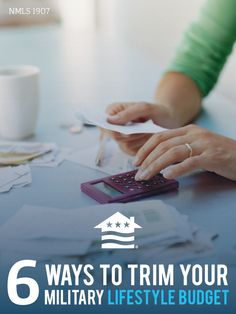 Check out these 6 areas of military life to consider saving some money. #budget #military