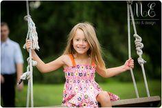 Little Girl Swing Portrait | Swarthmore, PA Family Photographer | Creative Children's Photographer