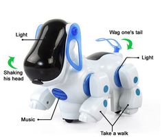 47.77$  Buy here - http://aircq.worlditems.win/all/product.php?id=32374872195 - Cheap Electric Dog Cute Robot Pets Kid Friend With Light Music Shaking head Walk Wake Tail Funny Children Toys