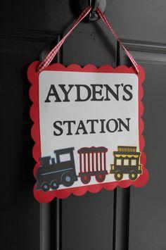 Train Door Sign,