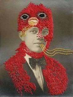 55 Embroidered Artworks - From Needlepoint SMS to Embroidered Portraits