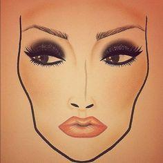 MAC Face Chart