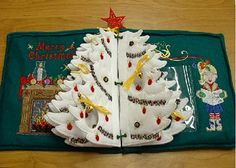 Holiday Tree Book Pricey design, but SO amazing, this is an heirloom project for sure. Christmas Books, Holiday Tree, Sewing Ideas, Machine Embroidery, Merry, Felt, Gift Ideas, Patterns, Amazing